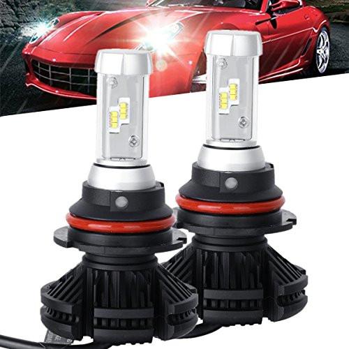 POWLAB Series NF-X3 2PCS 9007/9004/HB1/HB5 LED Headlight Fog Light Bulbs Hi-Lo Beam Combo Beam All-in-One Conversion Kit 50W 6000LM 6500K Diamond White LED Headlamp - 2 Yr Warranty