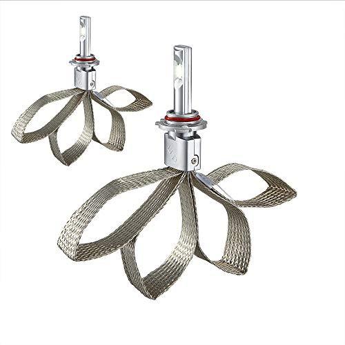 Lightdu H11 H10 H8 H9 LED Headlight Bulbs Conversion Kits-Flip CREE Chips 36W 7600LM 6000K-Hi/Lo Beam Light,2pcs (H11/H8/H9/H10)
