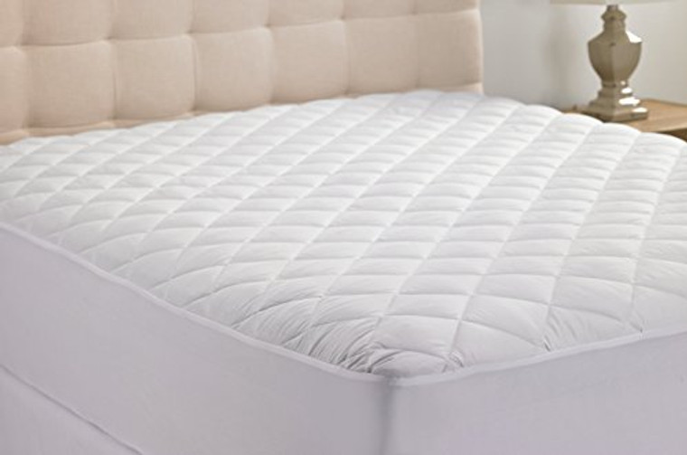 Hanna Kay Hypoallergenic Quilted Stretch-to-Fit Mattress Pad By, 10 Year Warranty-Clyne Collection (King)