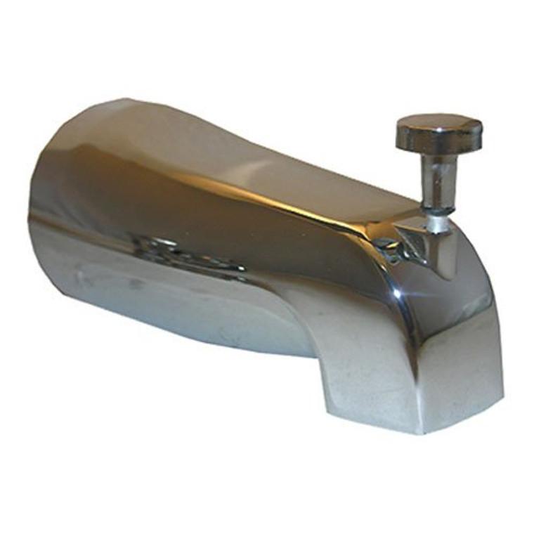 LASCO 08-1013 1/2-Inch Copper Slip Fit, Diverter Style Bathtub Spout, Chrome Plated