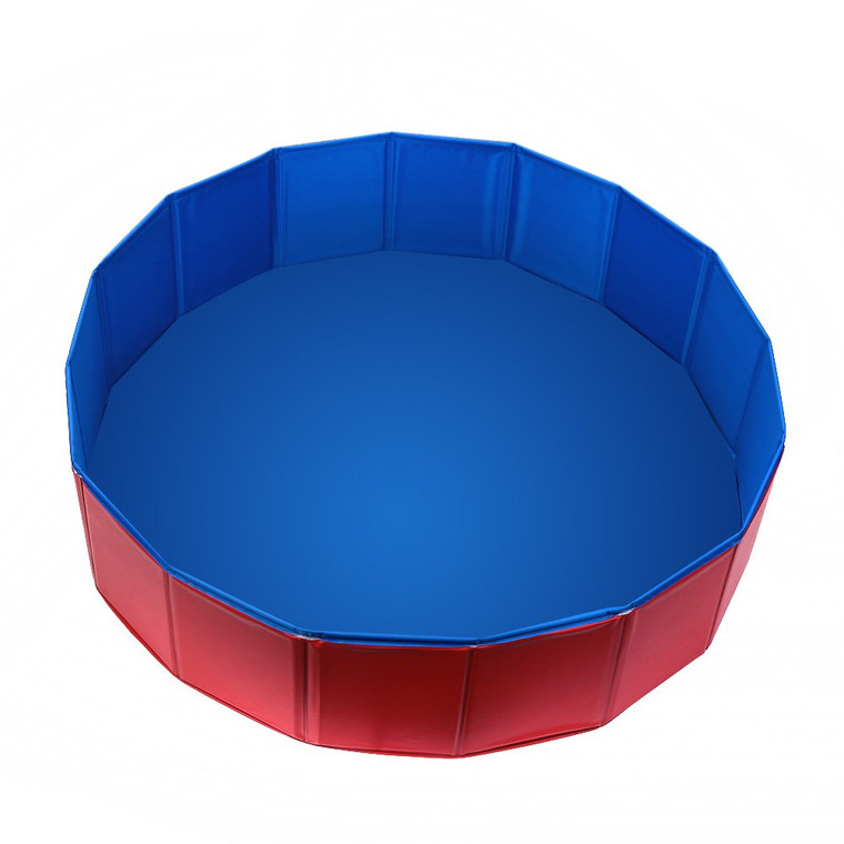 Fuloon PVC Pet Swimming Pool? Portable Foldable Pool Dogs Cats Bathing Tub Bathtub Wash Tub Water Pond Pool & Kiddie Pools for kids In the Garden, Park and Beach Kids Play Wash Tub