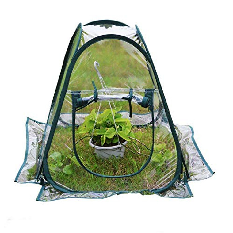 porayhut PORAY Sports Clear PVC Greenhouse Cover Flower House Mini Gardening Plant Flower Pop Up Tent?Backyard Greenhouse Cover for Cold Frost Protector Gardening Plants