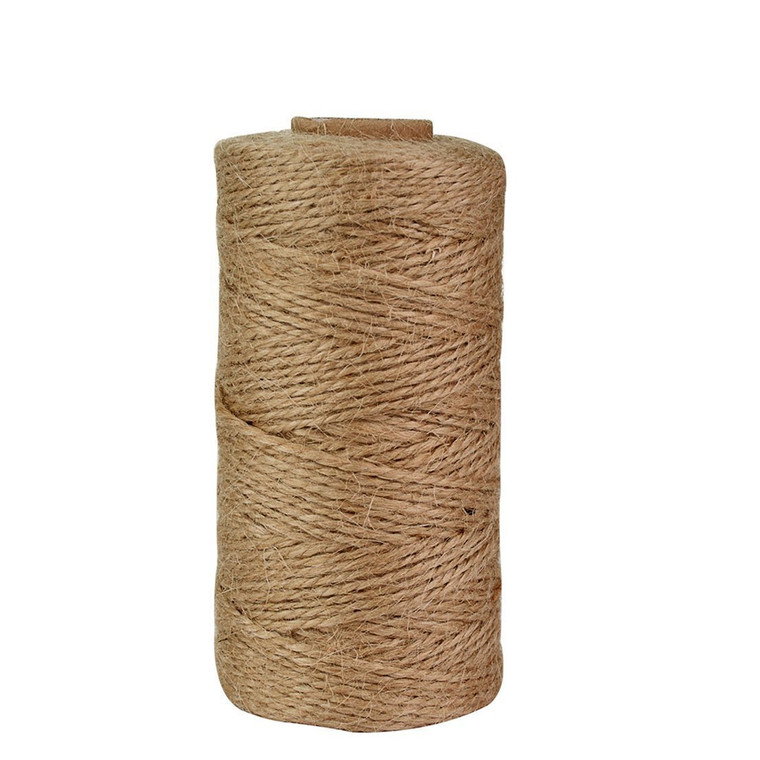 320 Ft Best Natural Jute Twine Strong, Arts and Crafts Jute Rope Industrial Packing Materials Packing String For Gifts, DIY Crafts, Decoration, Bundling, Gardening and Recycling