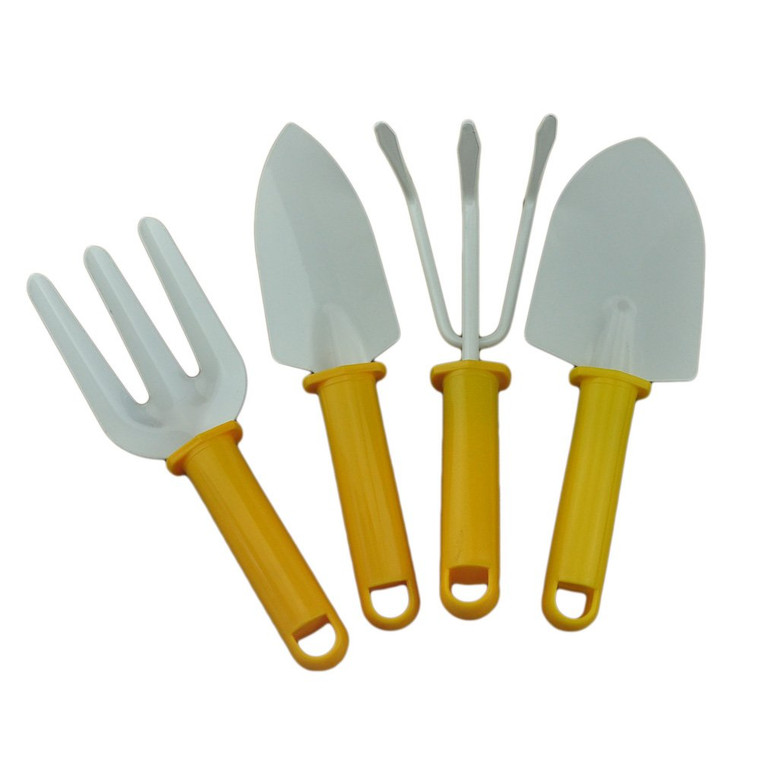4 Piece Garden Tools Set,Home Gardening Tools with Trowel Fork Transplanter Cultivator
