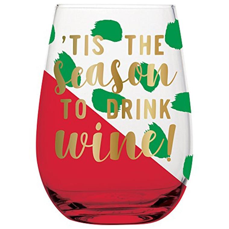 SLANT 20oz Stemless Wine Glass Season to Drink Wine