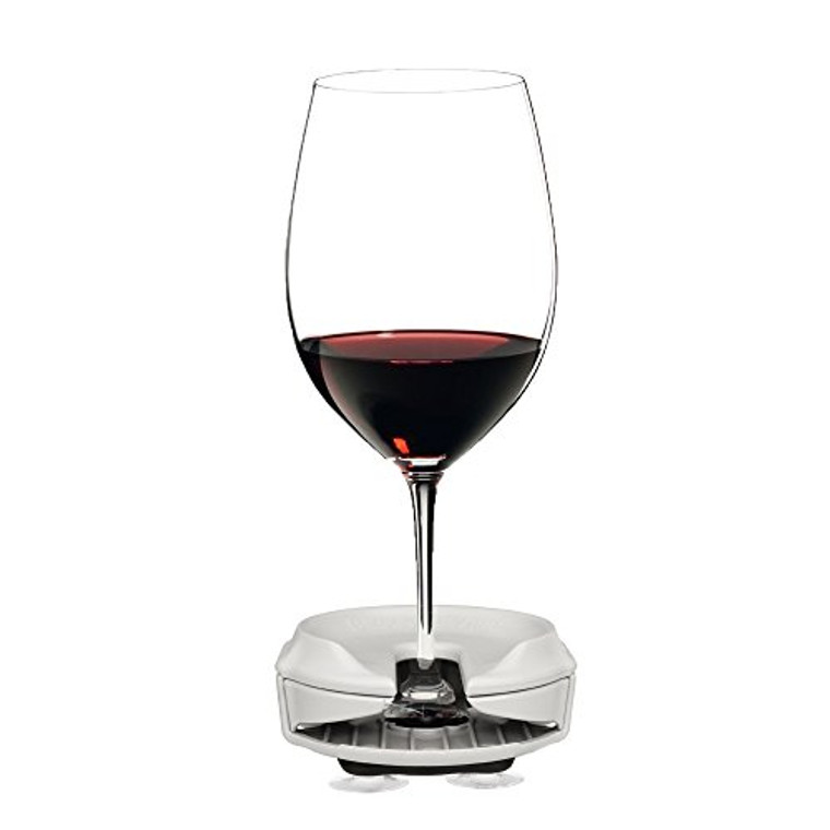 Boaters Wine Glass Holder by Bella D'Vine for Stemless & Stemmed glasses, Comes With a 3 Prong Suction Base for Boats, Sailboats, bath and Hot Tubs, Wine Gift in WHITE