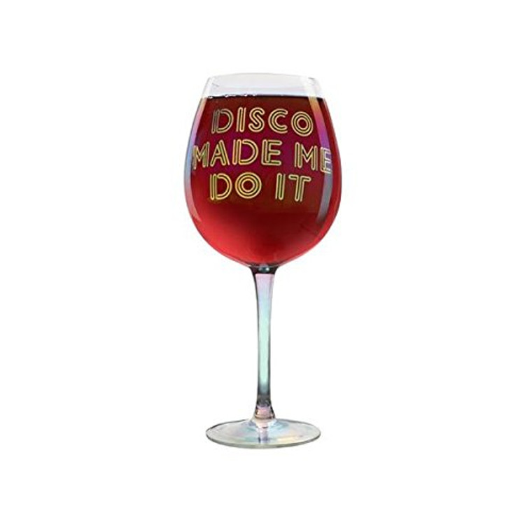 DCI 62040 XL Disco Made Me Do It Novelty Wine Glass 25 oz Clear