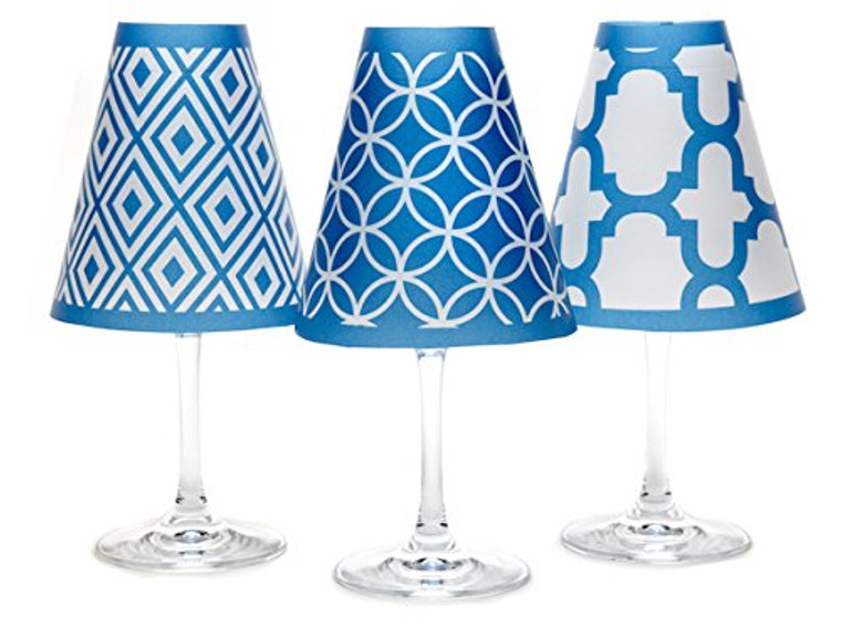 di Potter Wine Glass Shade, Barcelona Blue
