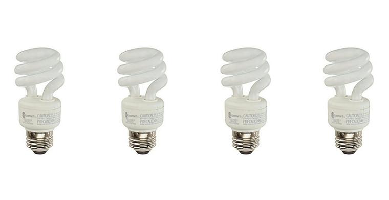 EcoSmart 9 Watt Soft White Compact Fluorescent (CFL) Light Bulbs 4-Pack, 40 Watt Equivalent, 550 Lumens