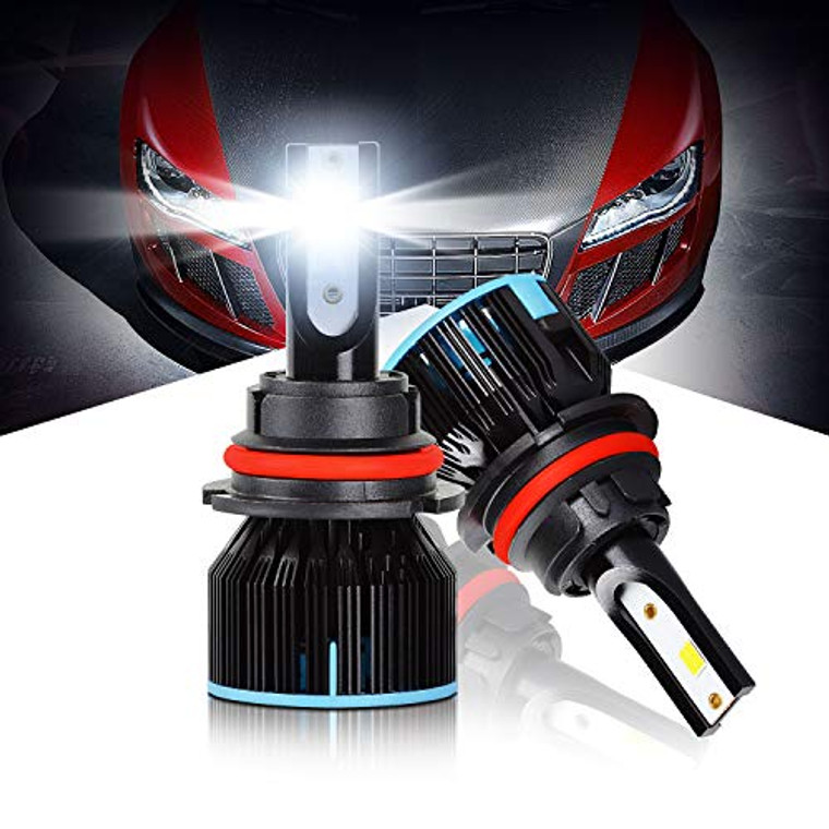 LED Headlight Bulbs 9007 All-in-one Conversion Kit High/Low Beam Extremely Bright 6500K Cool White 10000 Lumens Plug&Play LED HeadLamps by Max5, 2-Years Warranty