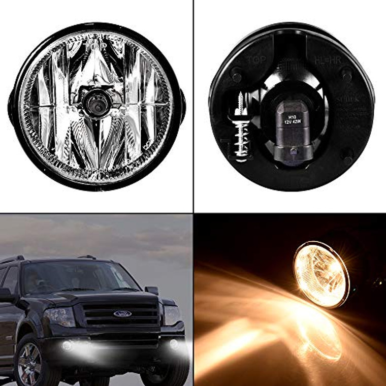 Younar 2PCS Fog Light Bulbs Lamps LED Lights Bar AL1Z15200B Left&Right Off Road Waterproof Replacement for 2007-2014 Ford Expedition/2008-2011 Ranger Bumper