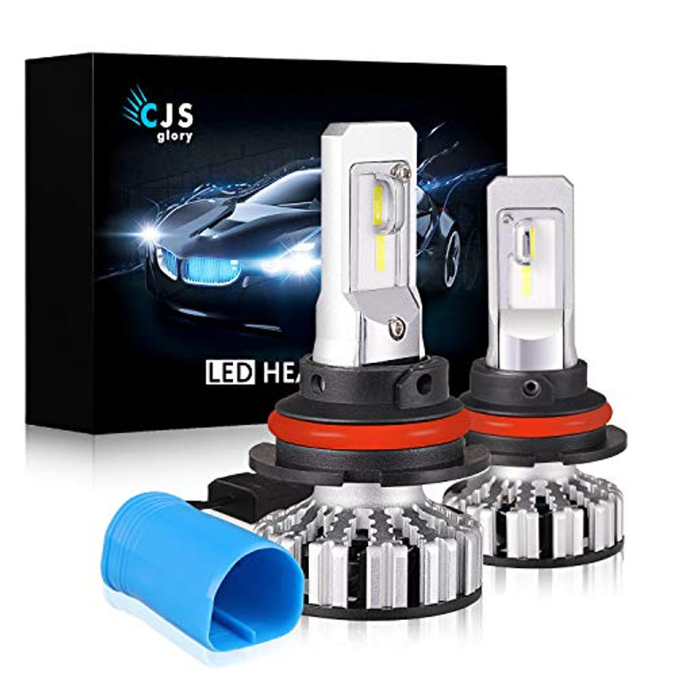 LED Headlight Bulbs 9007 HB5, 10000LM CSP Chips Extremely Bright 6000K (Cool White) All-in-One Anti-Flicker Conversion Kit HID or Halogen Headlight Replacement - 2 Years Warranty