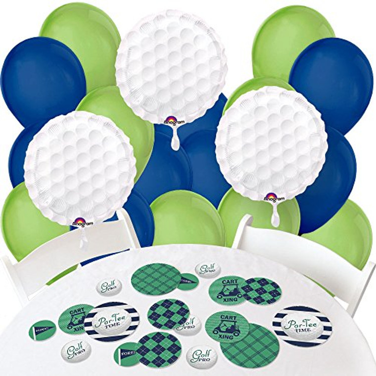 Big Dot of Happiness Par-Tee Time - Golf - Confetti and Balloon Birthday or Retirement Party Decorations - Combo Kit
