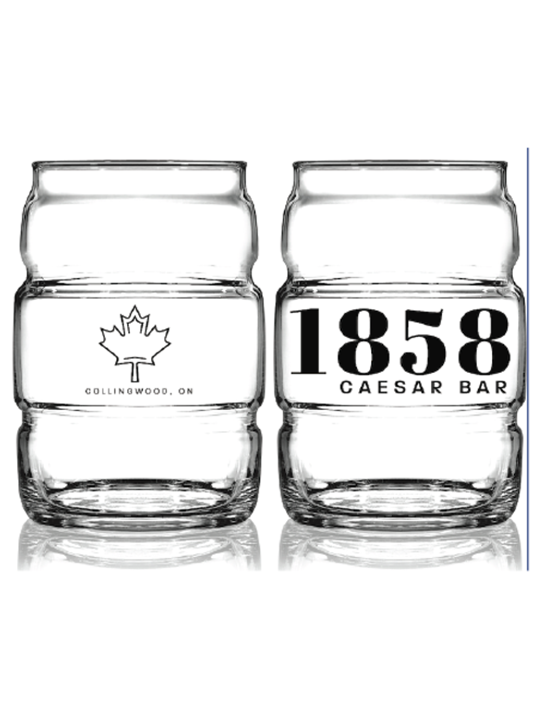 1858 Caesar Bar - 16oz Barrel Glass
