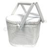 Mesh Heart Basket - White/Large