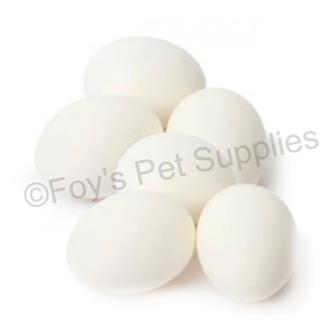 PLASTIC BANTAM EGGS *6 PACK*
