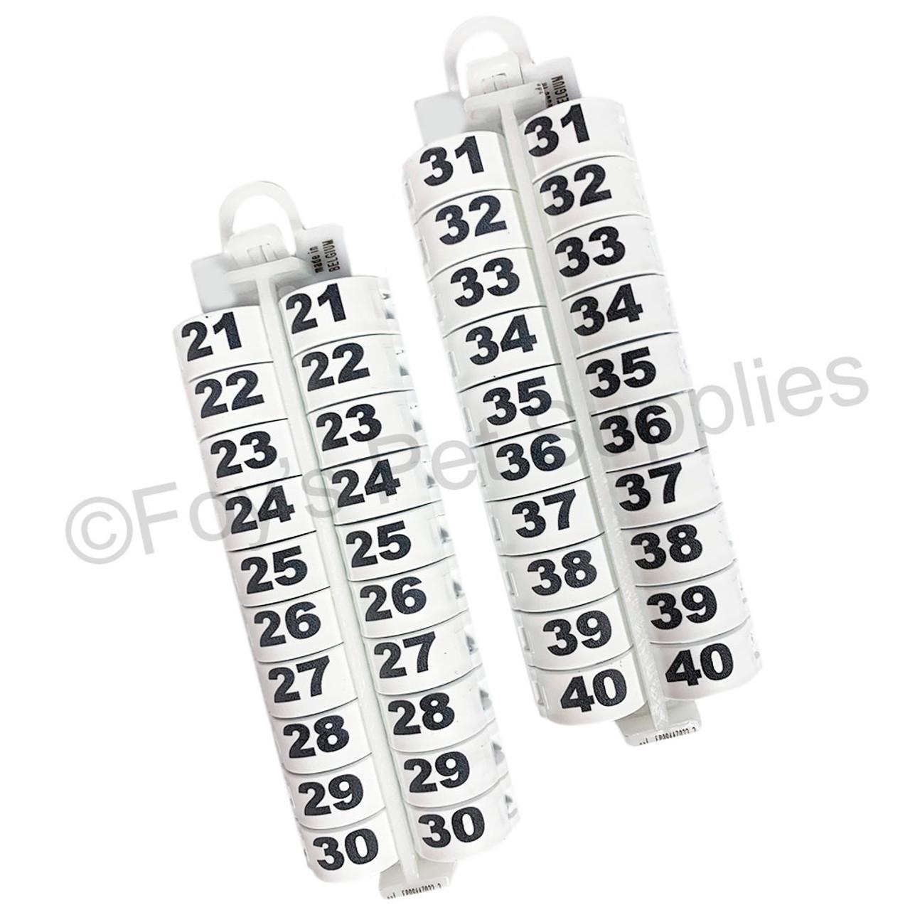 E-Z LOCKRINGS W/ NUMBERS 21 - 40 (10MM)