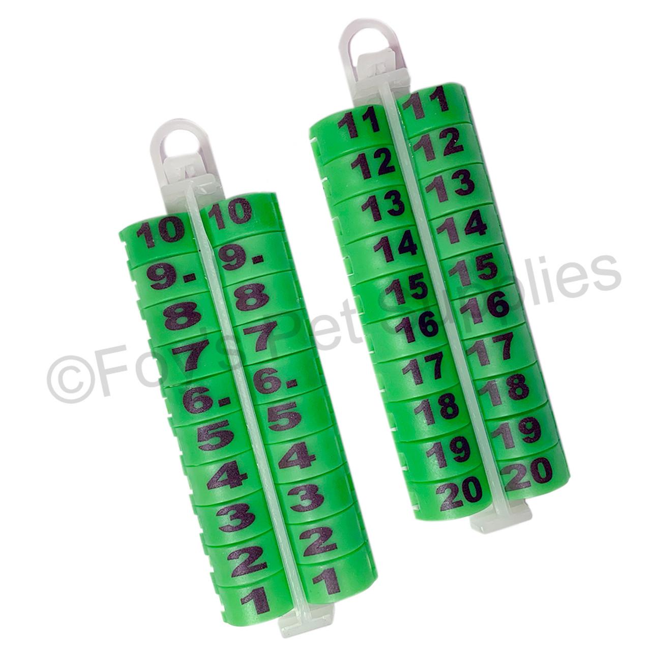E-Z LOCKRINGS W/ NUMBERS 1 - 20 (14 MM)
