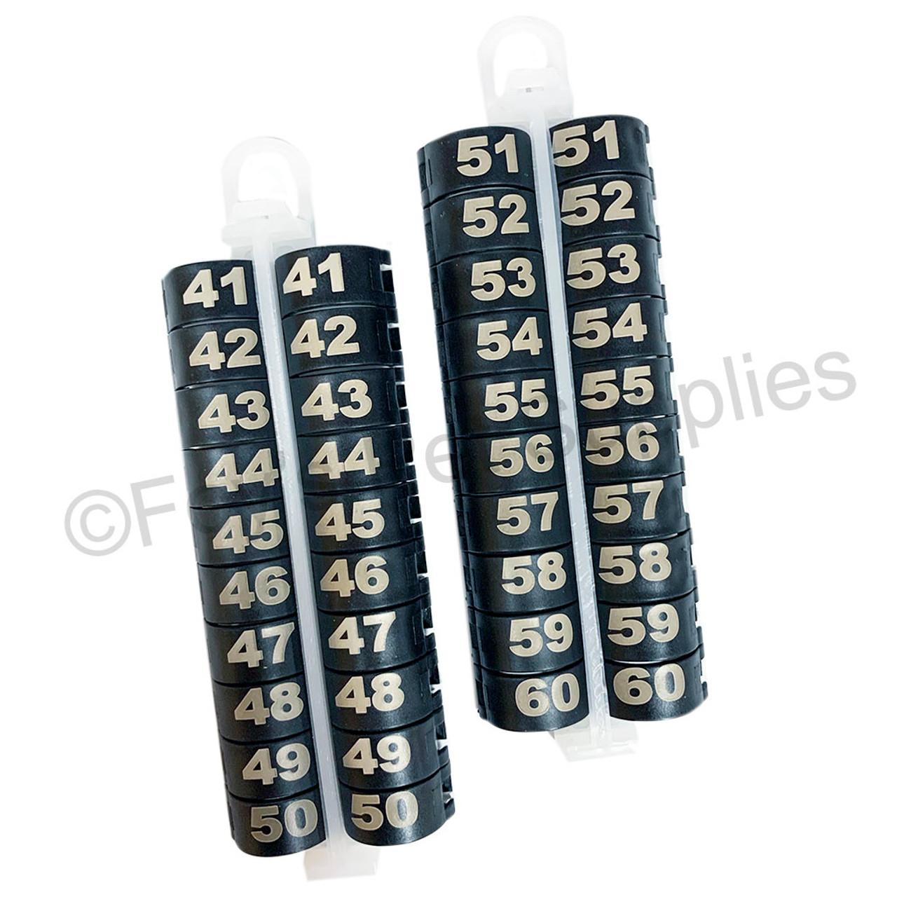 E-Z LOCKRINGS W/ NUMBERS 41 - 60 (14 MM)