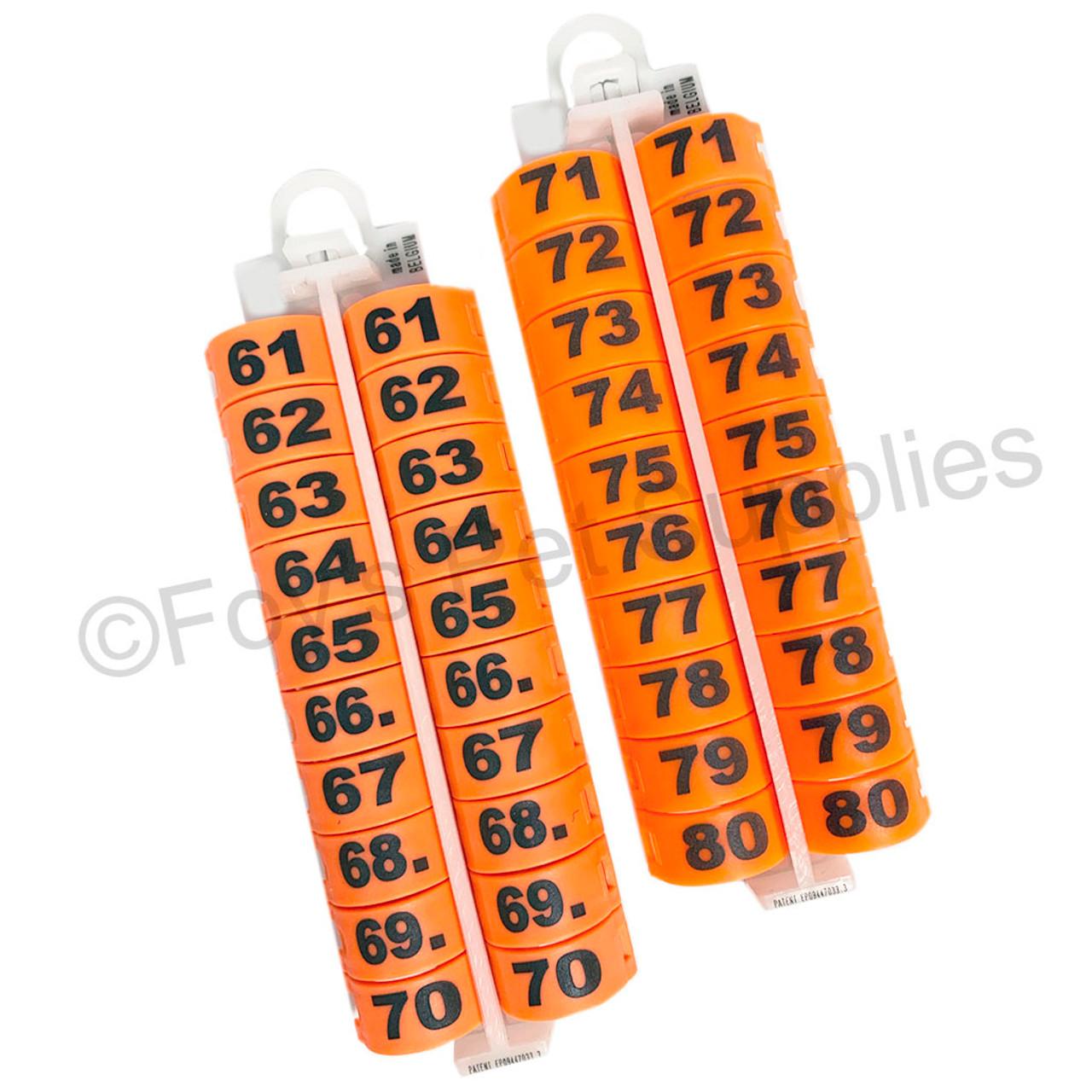 E-Z LOCKRINGS W/ NUMBERS 61 - 80 (14 MM)