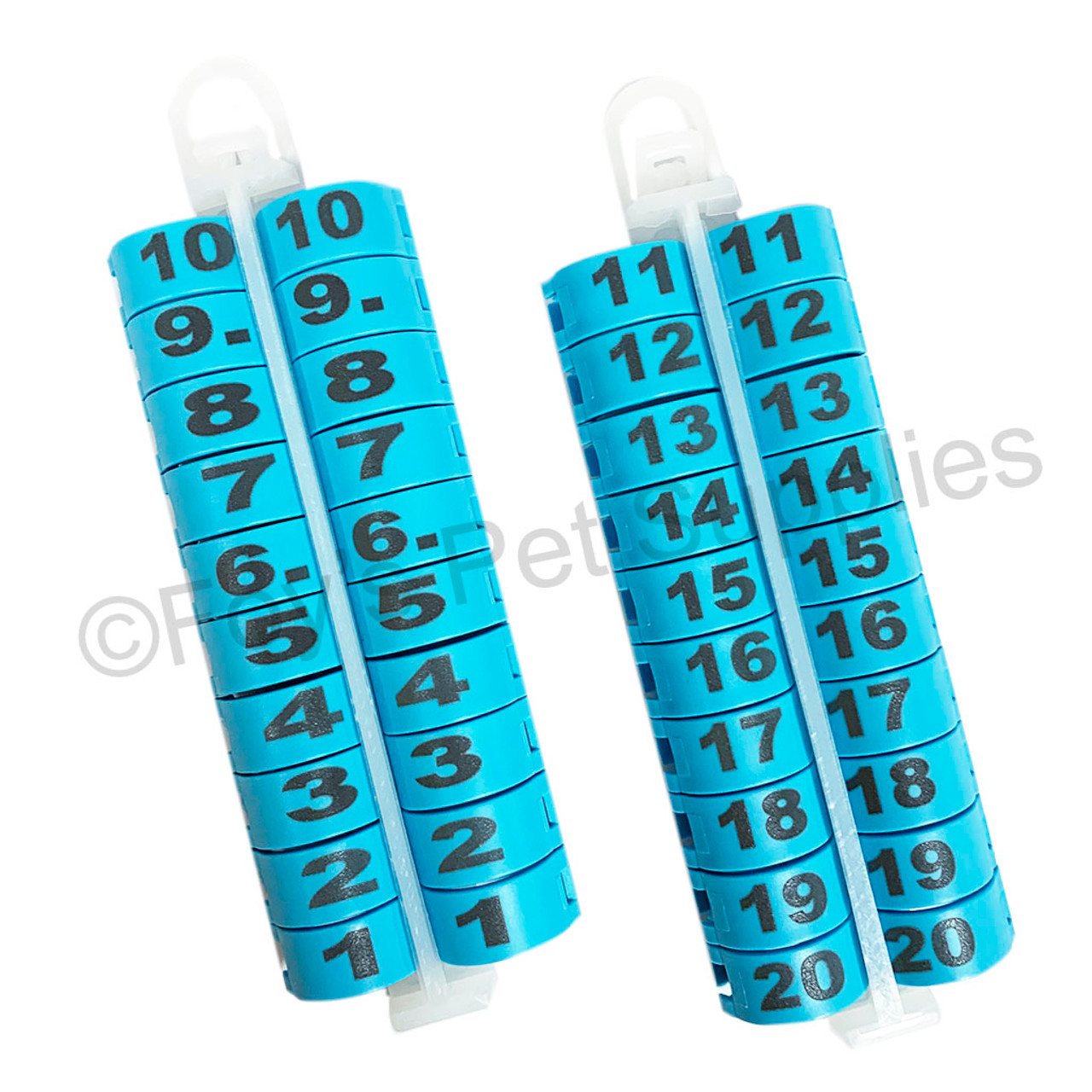 E-Z Lockringswith Numbers 1 - 20 (18 MM)