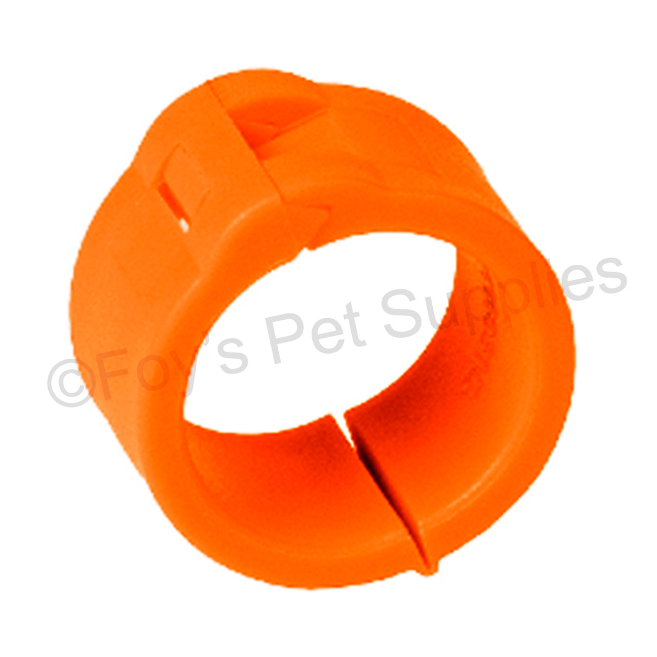 EZ Lockrings Size 7 - No Numbers Orange