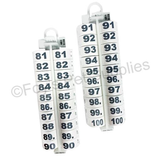 E-Z LOCKRINGS W/ NUMBERS 81 - 100 (12 MM)
