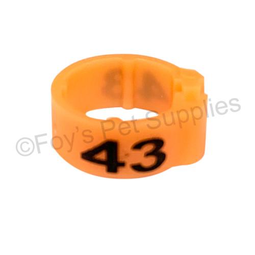 EZ CLIP RINGS NARROW 26 - 50 Orange