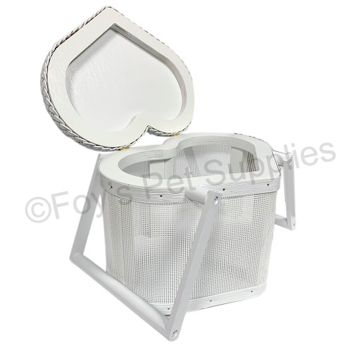 Mesh Heart Basket - White/Small
