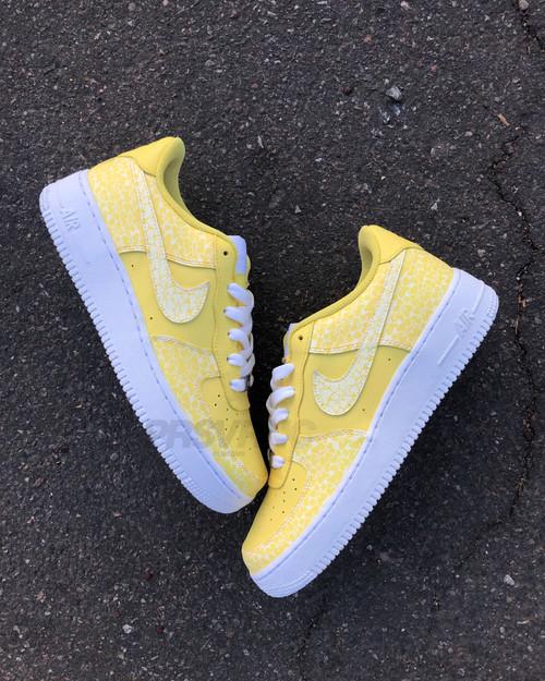 BusyBirdy Yellow Nike AF1 Low  Custom