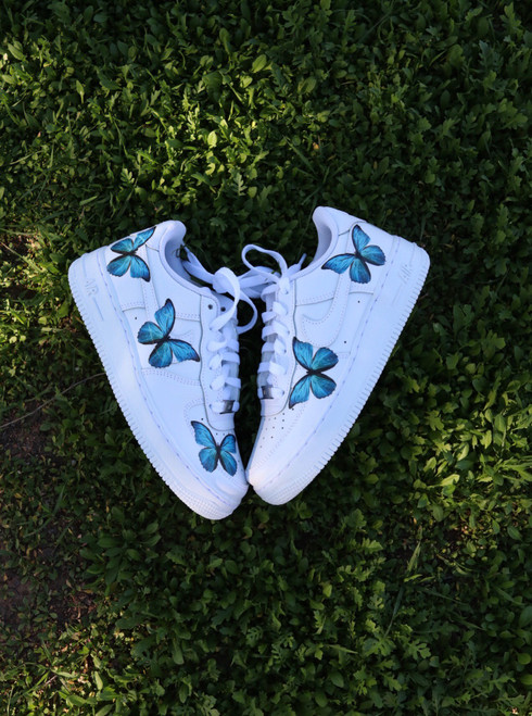 Blue Butterfly Effect Nike AF1 Low Custom