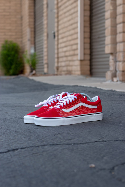 Red Yo Gard Old Skool Custom Vans