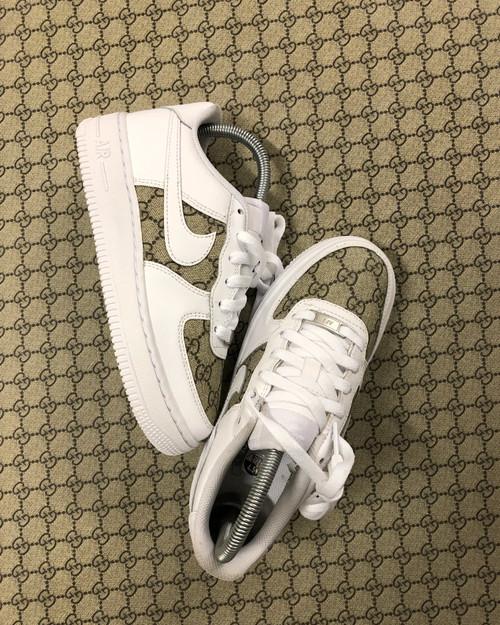 Brown GG's Canvas  Nike AF1 Low Custom
