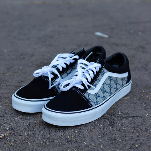 Navy Canvas GG Old Skool Custom Vans