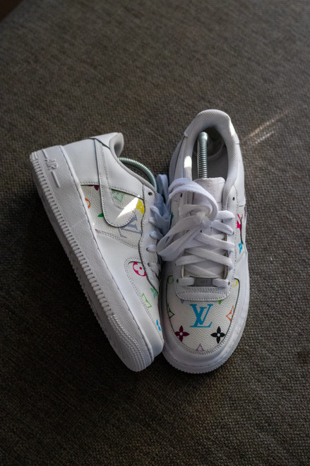 Multi Color LV Canvas Nike AF1 Low Custom