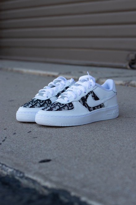 Black DD Fabric Nike AF1 Low Custom