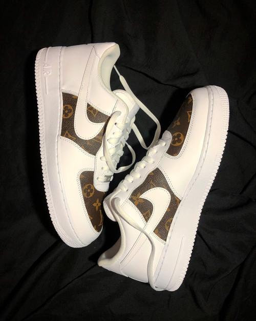 Brown LV Canvas Nike AF1 Low Custom