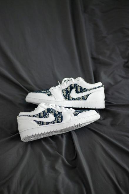 Navy DD Fabric Jordan 1 Low Custom