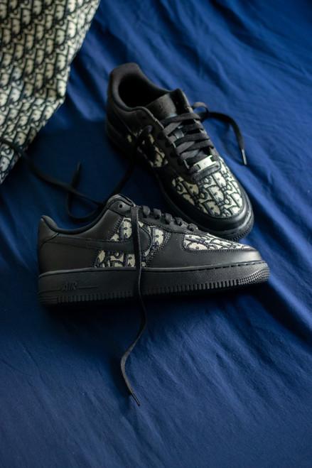Black DD Fabric Black Nike AF1 Low Custom