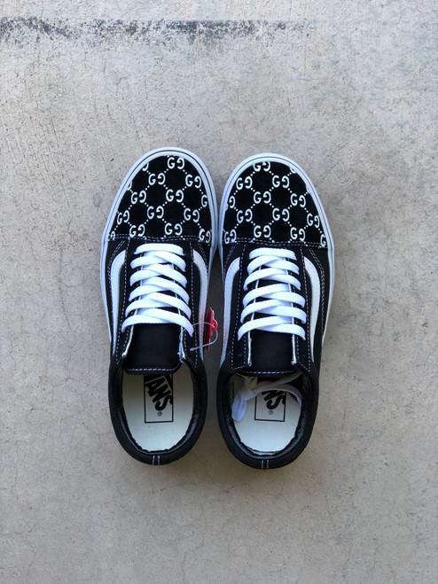 Double G Black Designer Old Skool Vans