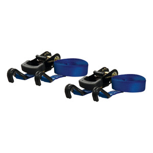 CURT 16' Blue Cargo Straps with J-Hooks (733 lbs., 2-Pack) #83020