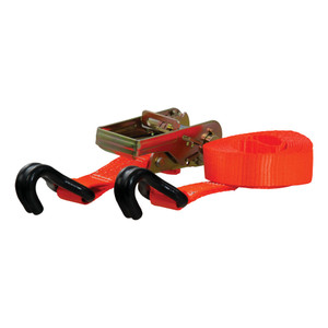 CURT 16' Orange Cargo Strap with J-Hooks (1,100 lbs.) #83025