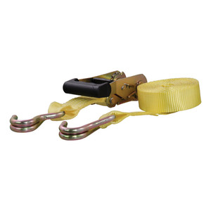 CURT 14' Yellow Cargo Strap with J-Hooks (1,667 lbs.) #83036