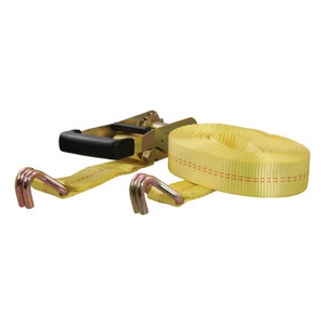 CURT 27' Yellow Cargo Strap with J-Hooks (3,333 lbs.) #83047