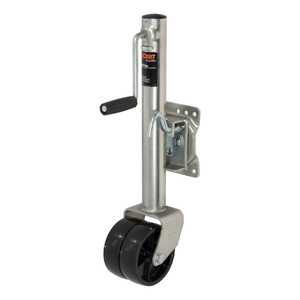 """CURT Marine Jack with Dual 6"""" Wheels (1,500 lbs., 10"""" Travel, Packaged) #28156"""