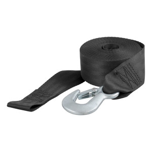 CURT 20' Winch Strap with Snap Hook (1,333 lbs.) #29007