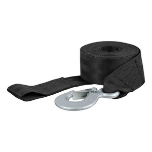 CURT 20' Winch Strap with Snap Hook (1,100 lbs.) #29451