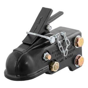 """CURT 2-5/16"""" Channel-Mount Coupler with Easy-Lock (15,000 lbs., Black) #25328"""