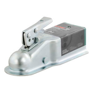 "CURT 2"" Straight-Tongue Coupler with Posi-Lock (3"" Channel, 5,000 lbs., Zinc) #25100"