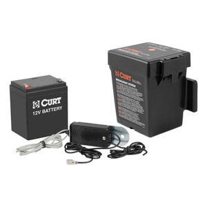 CURT Push-to-Test Breakaway Kit with Top-Load Battery #52044
